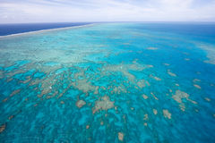 Great Barrier Reaf from above. Flying over Great Barrier Reaf in Australia by helipocter Royalty Free Stock Photography