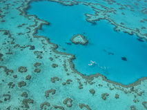 Great barrier reef. Australia aerial view taken from helicopter stock photo