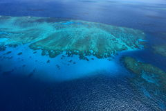 Great Barrier Reef. Bird's eye view of Great Barrier Reef stock images