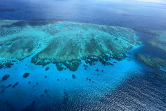 Great Barrier Reef. Bird's eye view of Great Barrier Reef stock photos