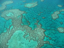 The Great Barrier Reef 2. Aerial shot over the great barrier reef in australia stock photography