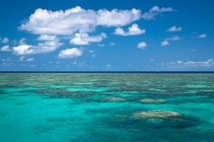 Great barrier reef. Cruise on a wood boat to see the great barrier reef stock image