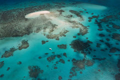 Great Barrier Reef. Aerial view of the great barrier reef royalty free stock photos