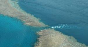 Great Barrier Reef. Aerial view of Great Barrier Reef, Queensland, Australia Stock Image