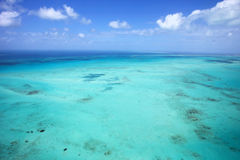 Great Barrier Reef. Aerial scenic view of the outer Great Barrier Reef Royalty Free Stock Photos