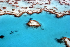 Great Barrier Reef, Australia. Heart Reef in The Great Barrier Reef, the largest coral reef in the world, Queensland, Australia Stock Photography