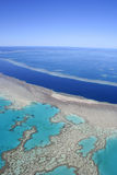Great Barrier Reef, Australia. Aerial view of the Great Barrier Reef, far north Queensland, Australia Stock Photography