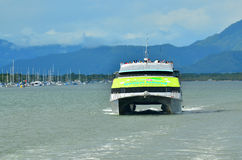 Great Barrier Reef Cruise boat sail out from Cairns in Queenslan Stock Photography