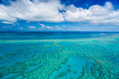 Great Barrier Reef, Queensland, Australia. Aerial view over the Great Barrier Reef, Queensland, Australia Stock Photo