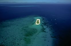 Aerial of Michaelmas Cay, Great Barrier Reef. Great Barrier Reef, Queensland, Australia, Australasia stock photography