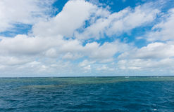The Great Barrier Reef in Queensland, Australia. Landscape of the Great Barrier Reef in Queensland, Australia Royalty Free Stock Photo