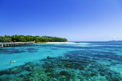 The Great Barrier Reef in Queensland State, Australia.  Stock Photo