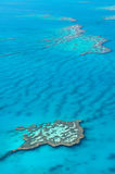 Great Barrier Reef. Scenic flight over Great Barrier Reef, Australia Stock Image