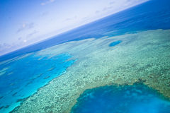 Great Barrier Reef from the sky stock images