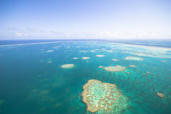 Great Barrier Reef from the sky Stock Photography