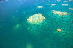 Great Barrier Reef from the sky Royalty Free Stock Photos