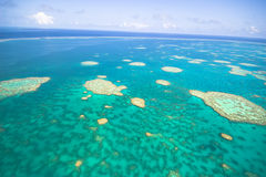 Great Barrier Reef from the sky. Melbourne Australia Royalty Free Stock Photo