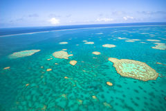 Great Barrier Reef from the sky. Melbourne Australia Royalty Free Stock Image