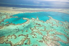 Great Barrier Reef from the sky Royalty Free Stock Photo