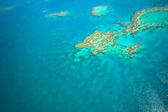 Great Barrier Reef from the sky Royalty Free Stock Photography