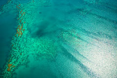 Great Barrier Reef from the sky. Melbourne Australia Stock Photos