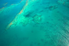 Great Barrier Reef from the sky Royalty Free Stock Images