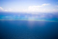 Great Barrier Reef from the sky. Melbourne Australia Stock Photo