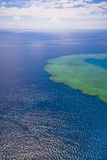 Great Barrier Reef from the sky. Melbourne Australia Stock Photography