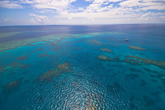 Great Barrier Reef from the sky. Melbourne Australia Royalty Free Stock Images