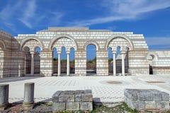 The Great Basilica at the first Bulgarian capital. Pliska Royalty Free Stock Image