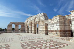 The Great Basilica at the first Bulgarian capital Stock Image