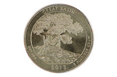 Great Basin Quarter Coin Royalty Free Stock Photos