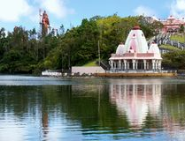 Mauritius, Grand Bassin Holy Hindu Lake Temple. Grand Bassin - Holy Hindu Lake, Hindu Temple. Sacred place for Hindu religion. Mauritius Island in the Indian royalty free stock photo