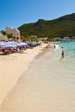 Great Bay Beach, St. Maarten Royalty Free Stock Image