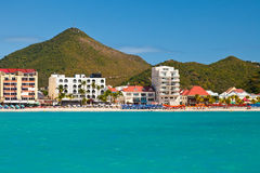 Great Bay Beach, St. Maarten Royalty Free Stock Photo