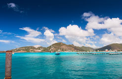 Great Bay panoramic view, Saint Martin Royalty Free Stock Images