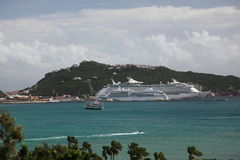 Great Bay  on Philipsburg, Sint Maarten Royalty Free Stock Photography