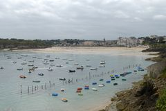 Great beach of Saint Lunaire in Brittany