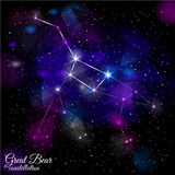 Great Bear Constellation. Royalty Free Stock Photos