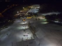 Great Bear is a Ski and Snowboard Hill in Sioux Falls, South Dakota during the Winter.  stock photography