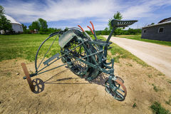 Great beautiful  view of old technology farm machinery equipement Stock Photos