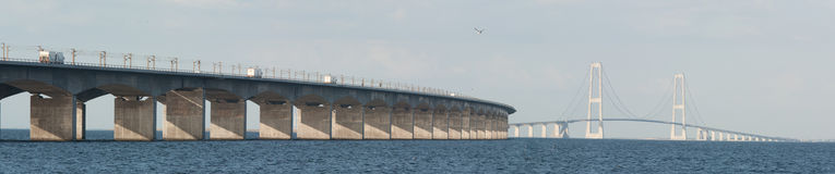 Great belt bridge. Stock Photography