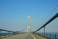 On the Great Belt Bridge Danmark Royalty Free Stock Photo