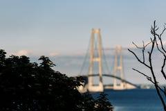 Great Belt Bridge in Denmark Royalty Free Stock Photos