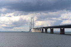 Great belt bridge Stock Photography