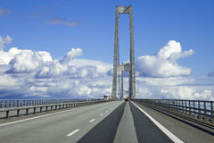 The Great Belt bridge, Denmark Stock Image