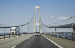 Free Great Belt Bridge Which Crossing The North Sea In Denmark Royalty Free Stock Photo - 183932205