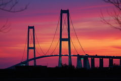 Great Belt Fixed Link bridge Royalty Free Stock Images