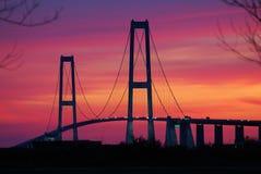 Great Belt Fixed Link bridge royalty free stock images