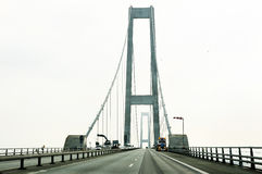 Great Belt Fixed Link Storebaeltsbroen - Denmark Royalty Free Stock Photo